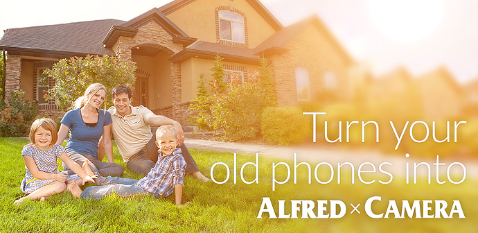 turn your smartphones into security camera with the free app Alfred