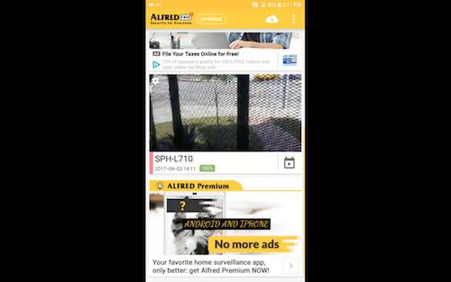 Free Home security camera app