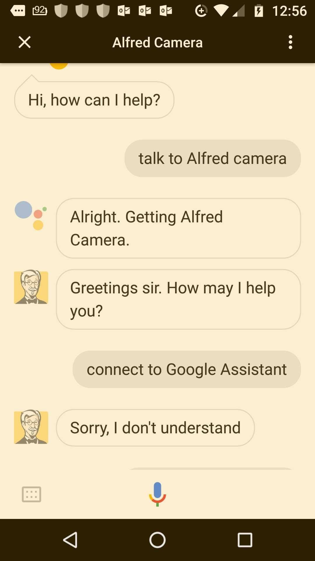 alfred google assit no connect